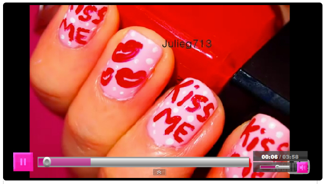 valentine nail designs. Hello+kitty+nails+designs
